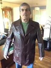 Brock Huards Grandpa's Vintage Leather Jackets Brown Sz44