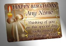 Your Photo Personalised Memorial Plaque. Happy Birthday, for garden grave