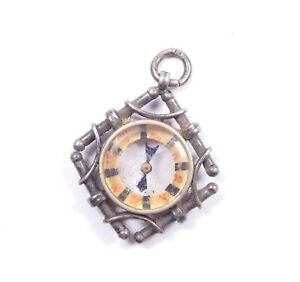 Antique Victorian Compass Fob Sterling Silver English