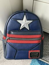 More details for captain america loungefly backpack - marvel - bnwt
