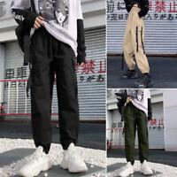 Mode Femme Pantalon cargo Loisir Casual Confor Poches Taille elastique Plus