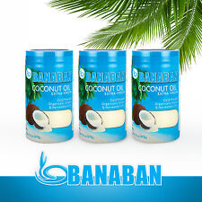 BANABAN Organic grown Extra Virgin Coconut Oil Fiji 3 x 1 Litre