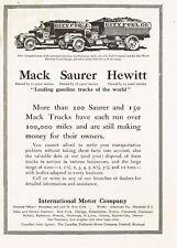 1913 Original Vintage Mack Truck Saurer & Hewitt Trucks Art Print Ad