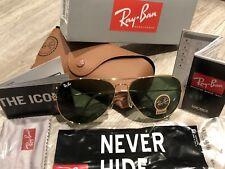 Ray Ban Sunglasses Aviator RB3026 / 62mm Gold Frame / Green Lenses