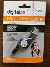 Retractable Micro USB Data Sync Charger Cable Cord Lead
