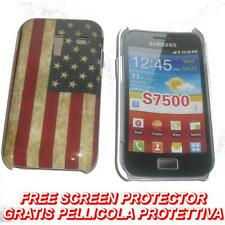 Pellicola+Custodia BACK COVER USA VINTAGE per Samsung Galaxy Ace Plus S7500 (H8)