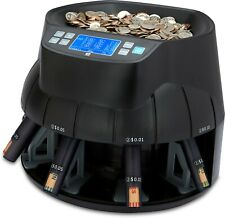 Coin Counter Sorter Money Machine Cash Counting Currency Electric Tubes Digital