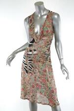 CLASS ROBERTO CAVALLI Womens Ultra-Light Sleeveless Corset Back Midi Dress 6