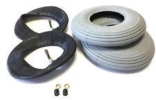 2x Rollstuhl Reifen 200x50 und 2x Rollstuhl Schlauch mit Winkelventil 90°/90°