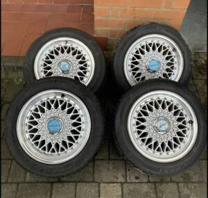 """Lenso BSX 15"""" Wheels With Tyres (BBS Style)"""