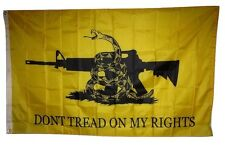 3x5 Gadsden Don't Tread On My Rights NRA M4 Rifle Machine Gun Flag 3'x5'