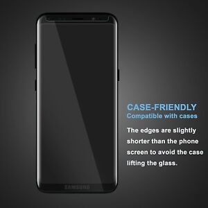 2 X 5D Tempered Glass Screen Protector For Samsung Galaxy S9 Curve Case Friendly