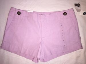 GAP Stretch SHORTS Size: 2 (EXTRA SMALL) New SHIP FREE Purple Lavender Lilac