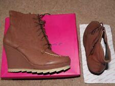BNWB Ladies Brown/Dark Tan Wedge Heel Winter Boots by Dolcis in SIze UK7/EU40