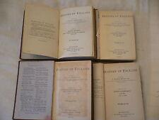 A History of England J.Franck Bright 4 volumes 1877,1880,1888,1890 NOT REPRINTS