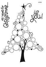Woodware claro singles Sello Navidad árbol de Navidad de burbuja 2017-JGS529