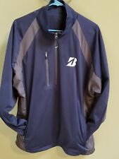 Antigua Golf Pullover 1/4 Zipper Pockets Men's Large Blue Gray