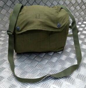 Genuine Nordic Army Issue Vintage Gas Bag. Side / Shoulder / Messenger Bag FSH1