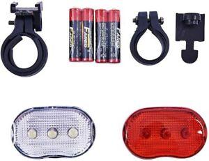 2pc Bike LED Light Set Flashing Front Rear LED Set Bicycle Amtech Branded