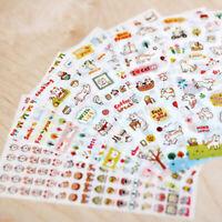 12 Sheets Cartoon Cat Scrapbook Diary Calendar Planner Decorative Stickers K3G7