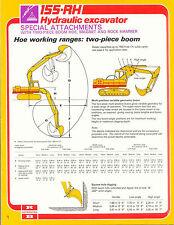 Ruston Bucyrus 155-RH Hydraulic Excavator Special Attachments specs brochure