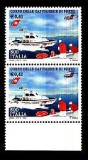 ITALIA REP. - 2001 - Corpo delle capitanerie di porto. 800 L. - 0,41 € 2 valori