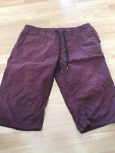 "mens burgundy Long shorts From Next Size 36"" Waist"