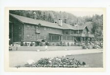 Alpine Inn RPPC Log Cabin—Sainte Marguerite QUEBEC Rare Vintage Photo 40s