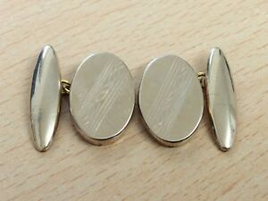 VINTAGE ROLLED GOLD CUFFLINKS 1950