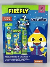 PINGFONG BABY SHARK BUNDLE ORAL CARE GIFT SET 4PC W/BATTERY POWER TOOTHBRUSH NEW