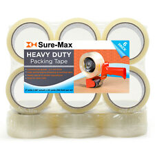 2 Heavy Duty 27mil Clear Shipping Packing Moving Tape 60 Yards180 Ea