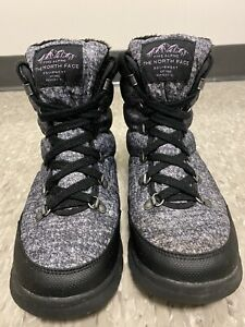 The North Face Primaloft Icepick Faux Fur Lined Snow Ankle Lace Up Boots Women 8