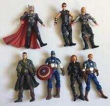 "Marvel Universe Avengers 3.75"" Figure Lot Captain America Thor Loki Hawkeye 2011"