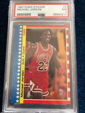 1987-88 FLEER Basketball Sticker Michael Jordan #2 PSA 7 NM New Slab, Centered