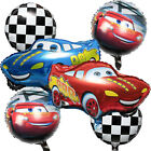 6 PCS - Cars Balloons - Race Car Foil Balloons Checkered Balloons Birthday