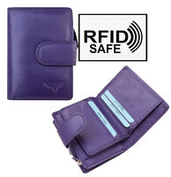 Nevaeh Heavanly Accessories Ladies Purple Small Leather Purse RFID Blocking