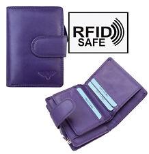 Nevaeh Heavanly Accessories Ladies Purple Small Leather Purse RFID Blocking