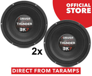 "2x 7Driver 12"" Thunder 3K7 8 Ohm Speaker 1850W by Taramps Direct From Taramps"
