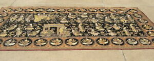 Vintage Monumental Burmese Kalaga Tapestry From Appleton Museum of Art 61x126 ""