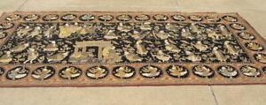 "Vintage Monumental Burmese Kalaga Tapestry From Appleton Museum of Art 61x126 """