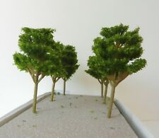 6 x CONIFER MODEL TREES 10 cm SCENERY FOR MODEL RAILWAY OO / HO SCALE, NEW B13