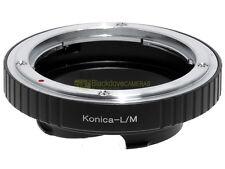 Anello adapter x montare ottiche Konica su corpi Leica M. Adattatore. ALM.