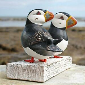 Puffins   Hand Carved Wooden Birds by Archipelago   D149