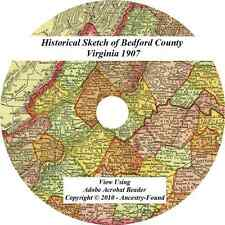 1907 History & Genealogy BEDFORD County Virginia VA