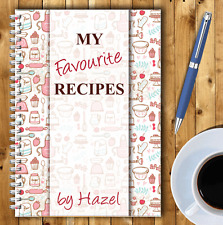 A5 PERSONALISED RECIPE PLANNER, WRITE YOUR OWN RECIPES,HEALTHY RECIPE BOOK,03