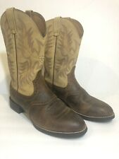 ARIAT Heritage Stockman 10002247 Size 11.5 Tan Pull On Rubber U-Toe Riding Boots