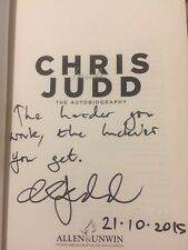 Chris Judd SIGNED, DATED & INSC  1/1 book 'Inside'. West Coast, Carlton, AFL.