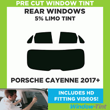 Pre Cut Window Tint - Porsche Cayenne 2017 5% Limo Rear