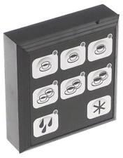 Tastatureinheit für Espressomaschine 8 Tasten schwarz/silber Länge 88mm CARMEN