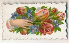 Original Victorian Hidden Name Calling Card Scrap Sample Card